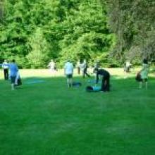 yoga les arnhem park buiten